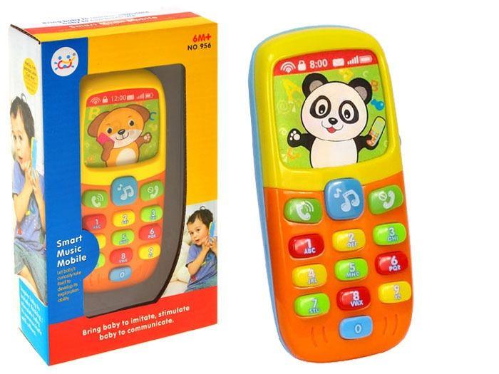 Kolorowy TELEFONIK Dla Maluszka Dźwięki Światła zdjęcie 3