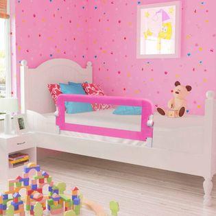 Barierki do łóżeczka dziecięcego 2 szt. różowe 102x42cm VidaXL