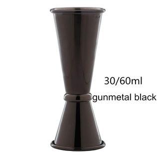 SHAKER Do Drinków i Koktajli -  Stalowy - DRINK BAR 30x60ml Czarny