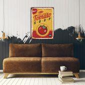 Wydruk na metalu, Retro – pomidorowa 40x60 zdjęcie 3