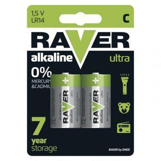 Bateria alkaliczna Raver Ultra Alkaline C (LR14) blister 2