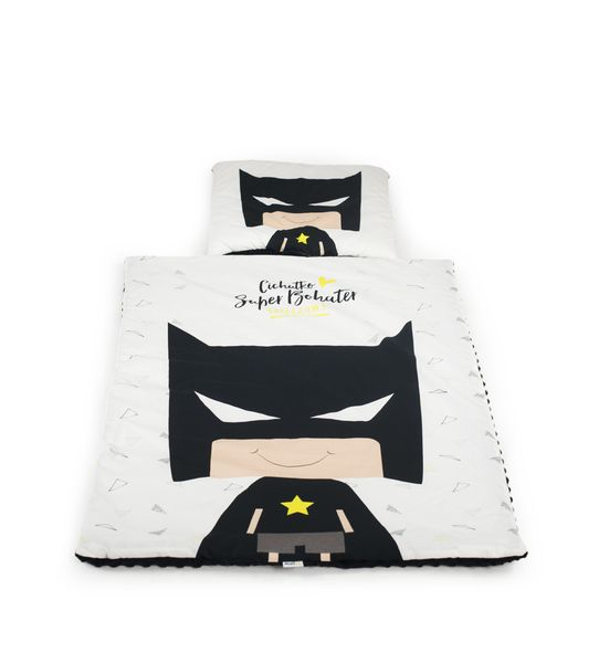 Zestaw kocyk i poduszka BATMAN z polaru Minky zdjęcie 5