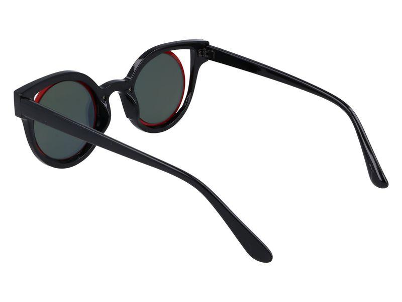czerwone okulary cat eye lustra zdjęcie 3