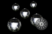 Lampa solarna LED 5 sztuk w kształcie kul, zestaw