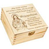 PUDEŁKO prezent na Chrzest Święty GRAWER Upominek zdjęcie 4