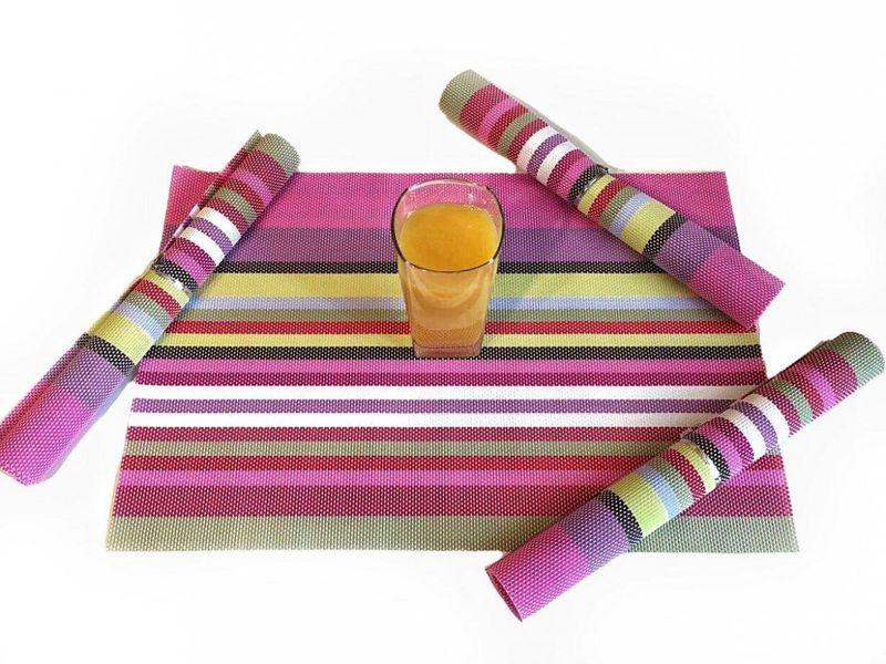 Podkładki Na Stół 4szt Kolorowe Różowe Mata Podkładka Pcv