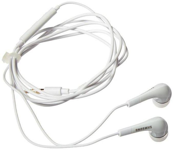Oryg. słuchawki z mikrofonem SAMSUNG EHS64 białe zdjęcie 2