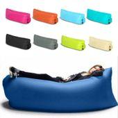 Lazy bag air sofa materac leżak na powietrze łóżko  kolor granatowy