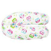 Poduszka dla kobiet w ciąży duży rogal do spania - białe sowy
