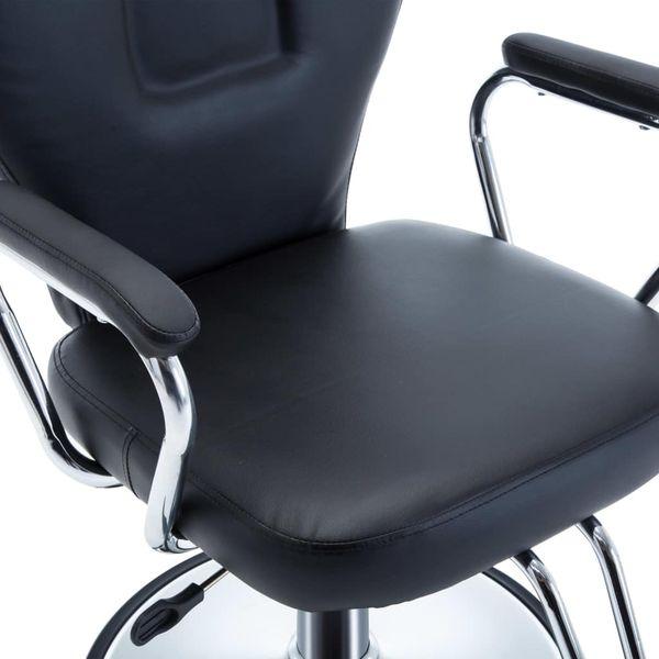 Fotel barberski ze sztucznej skóry, czarny GXP-679879 na Arena.pl
