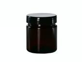 Słoik szklany brązowy 120ml apteczny słoiczek brąz
