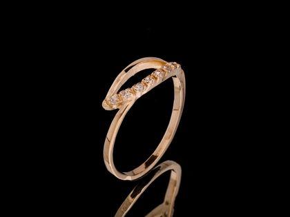 P535 Złoty pierścionek z cyrkoniami /333
