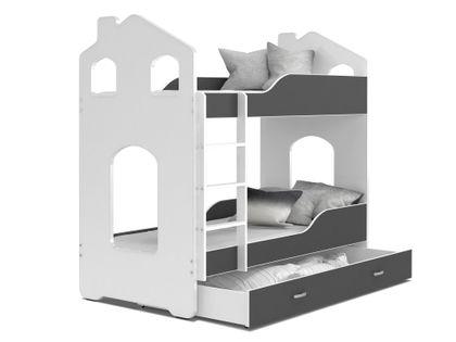 ŁÓŻKO piętrowe DOMINIK domek 190x80 + 2 materace