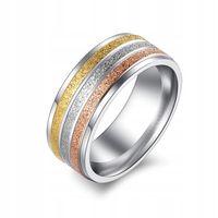 Złota srebrna miedziana obrączka sygnet pierścień