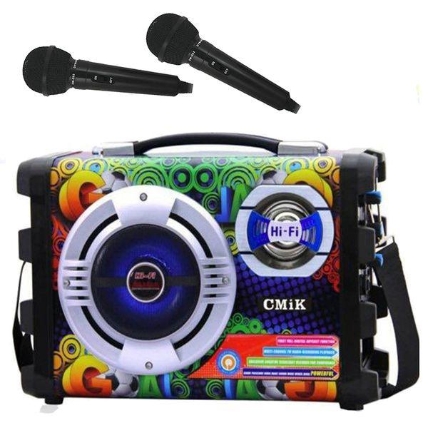 GŁOŚNIK Hi-Fi ODTWARZACZ MP3 RADIO KARAOKE 25W MIKROFONY zdjęcie 1