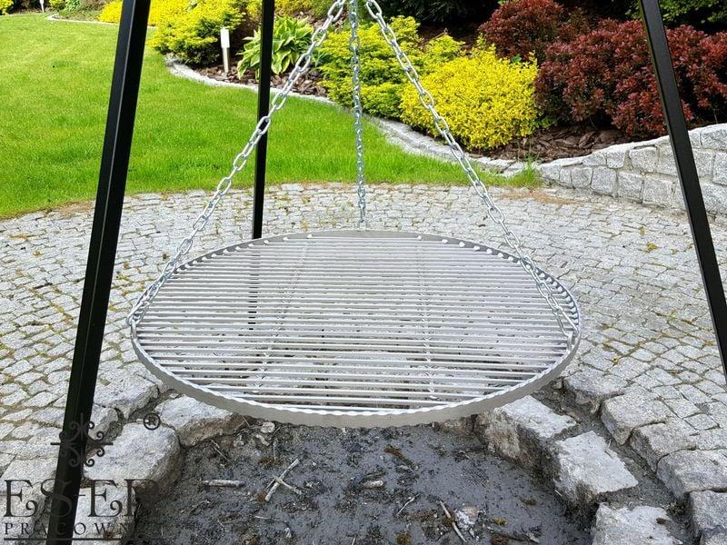 Grill ogrodowy na trójnogu PIOTR z rusztem stalowym 70 cm ES-ER zdjęcie 4