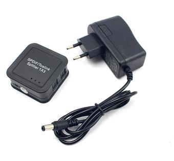 TOSLINK splitter 1x3 SPDIF kabel optyczny rozdzielacz aktywny