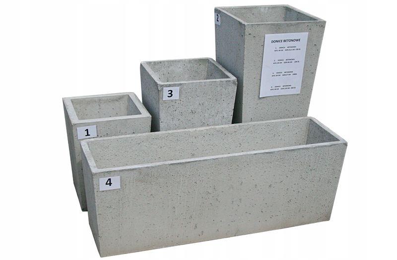 Donice Betonowe Beton Architektoniczny 4 ROZMIARY zdjęcie 1