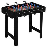 Lumarko Mini stół do gry w piłkarzyki, 69 x 37 x 62 cm, czarny