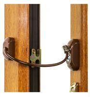 Blokada okienna Zabezpieczenie przed dziećmi Uchylenie na kluczyk BRĄZ