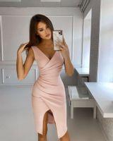 Krótka Sukienka Laura - pudrowy róż M (38)