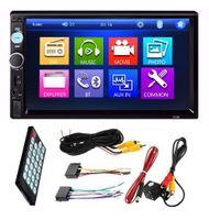 "Radio Samochodowe 2 DIN, ekran 7"" kamera cofania Bluetooth USB SD"