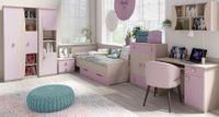 meble dla dziecka z łóżkiem i biurkiem Tenus 4 Kolorystyka - Santana/Niebieski
