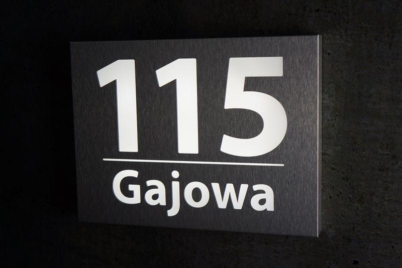 W Ultra Podświetlany numer domu RPB LED INOX 40 cm x 30 cm • Arena.pl NW82
