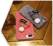 3D SOFT CASE ETUI CZAPKA PLUSZ IPHONE 7 8 CZARNY PREZENT GIFT zdjęcie 3