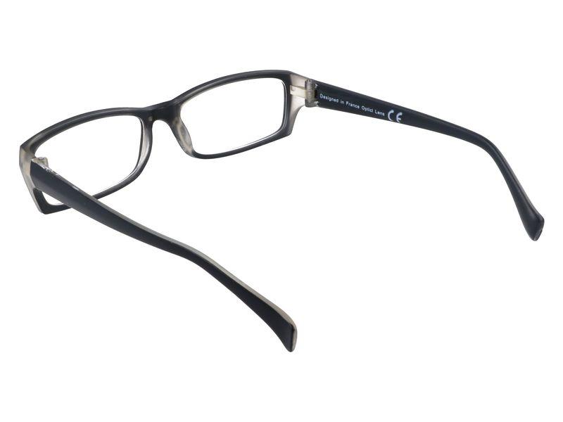 Prostokątne zastępcze okulary plusy czarne +1.00 zdjęcie 3