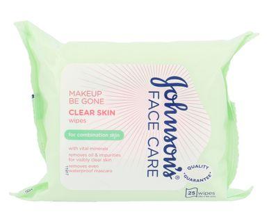 Johnson´s Face Care Clear Skin Chusteczki oczyszczające 25szt