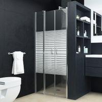 VidaXL Drzwi prysznicowe, półmatowe, ESG, 100 x 185 cm