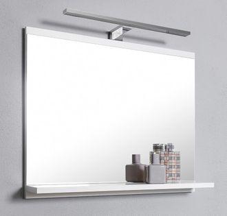 Lustro łazienkowe, lustro do łazienki z oświetleniem LED, BIAŁE