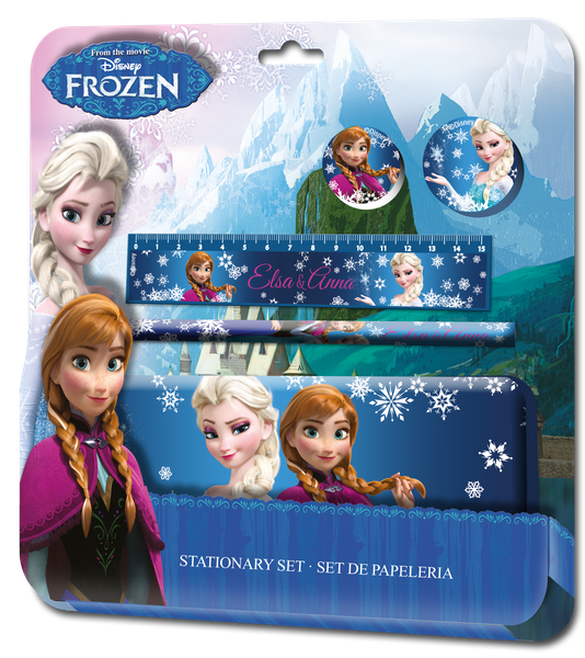 Zestaw szkolny - piórnik + akcesoria Frozen - Kraina Lodu zdjęcie 1
