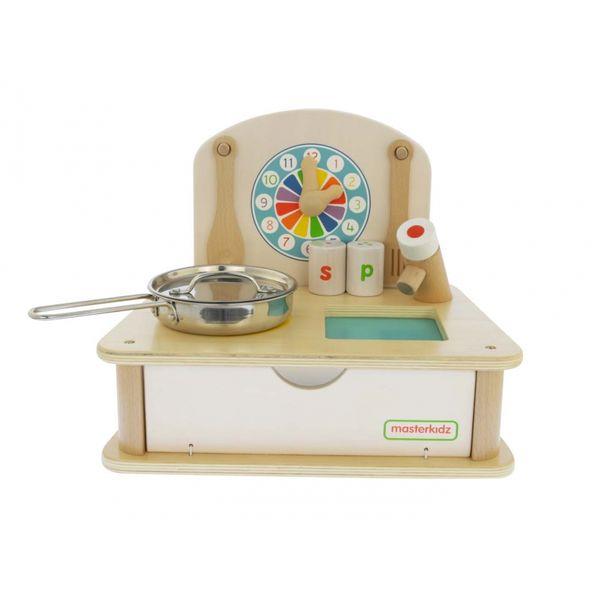 Drewniana Mini Kuchenka Dla Dzieci Masterkidz + Akcesoria zdjęcie 1