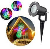 Projektor laserowy świąteczny wodoodporny MIKOŁAJ kolory G237