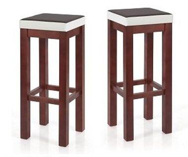 HOKER wysokie krzesło DREWNIANY barowe taboret BEJCOWANY z SIEDZISKIEM