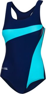 Kostium pływacki MOLLY Rozmiar - Stroje damskie - 40(L), Kolor - Stroje damskie - Molly - 42 - granat / niebieski