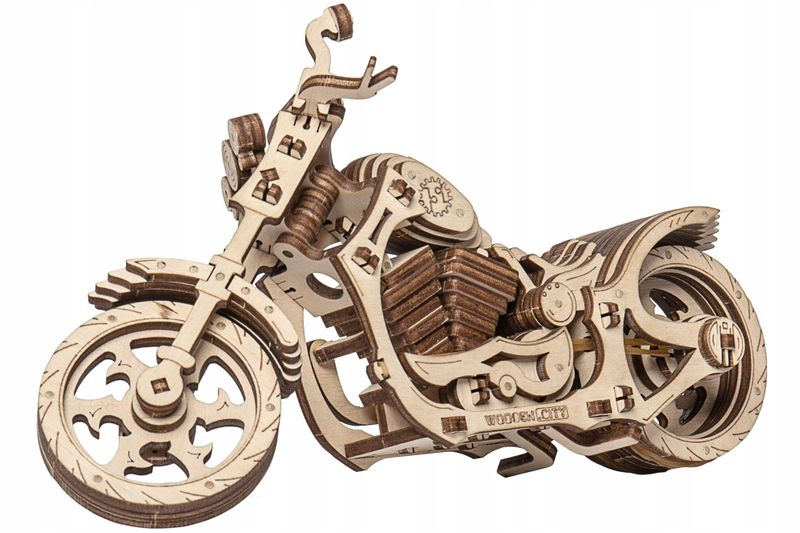 Motocykl Mechaniczne Puzzle 3D Drewniane Wooden City zdjęcie 4