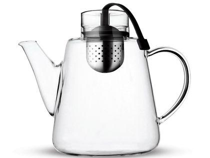 Dzbanek z zaparzaczem herbaty ziół 1500ml Czarny Szklany Vialli Design