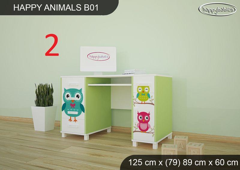 BIURKO DZIECIĘCE  HAPPY ANIMALS B01 AM01 Zielone zdjęcie 4