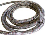 Wąż paliwowy DN06 gumowy z oplotem stalowym, włoski