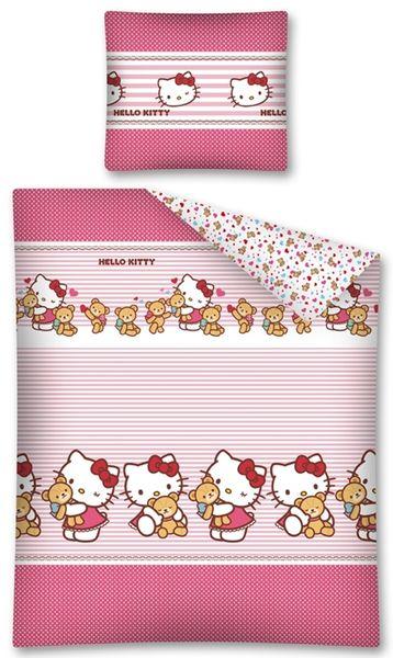 Pościel dziecięca 140x200 Flanelowa Hello Kitty Helo Kity Kot Kotka zdjęcie 1