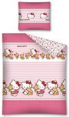 Pościel dziecięca 140x200 Flanelowa Hello Kitty Helo Kity Kot Kotka