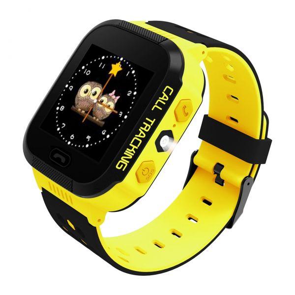 Zegarek smartwatch dla dzieci z lokalizatorem GPS KIDS SOS - żółty zdjęcie 2
