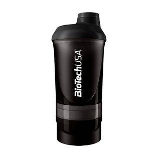 BioTech Shaker Wave+ 600ml Kolor - Czarny