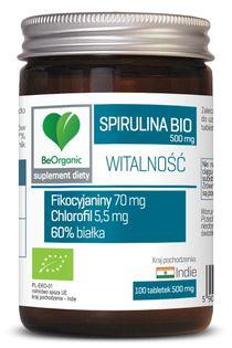 Spirulina 500 mg x 100 tabletek Aliness