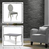 Jadalnia glamour Brezza del Mattina - blat kamienny - 160 x 90 x 75; 4