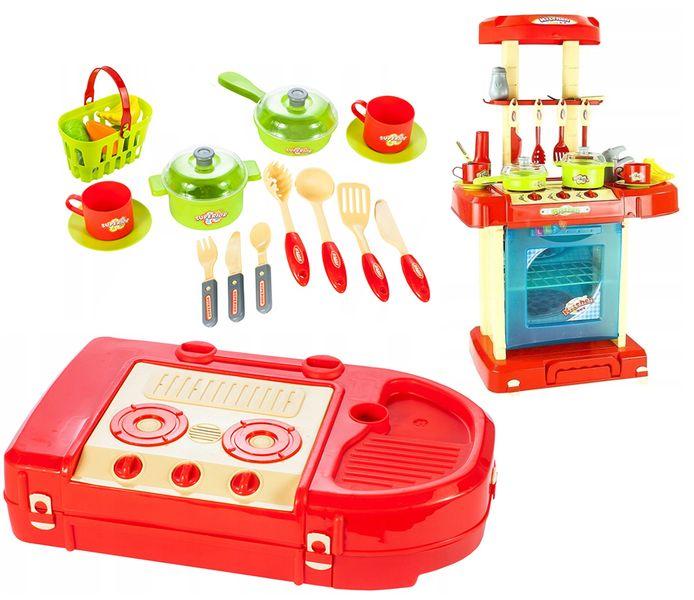 Kuchnia dla dzieci w walizce Piekarnik Zlew Akcesoria kuchenne U07 zdjęcie 13