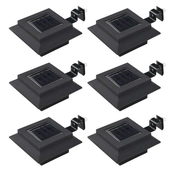 Kwadratowe Lampy Solarne Na Zewnątrz, 6 Szt, Led, 12 Cm, Czarne zdjęcie 1